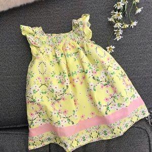Zara Yellow Floral Print Dress